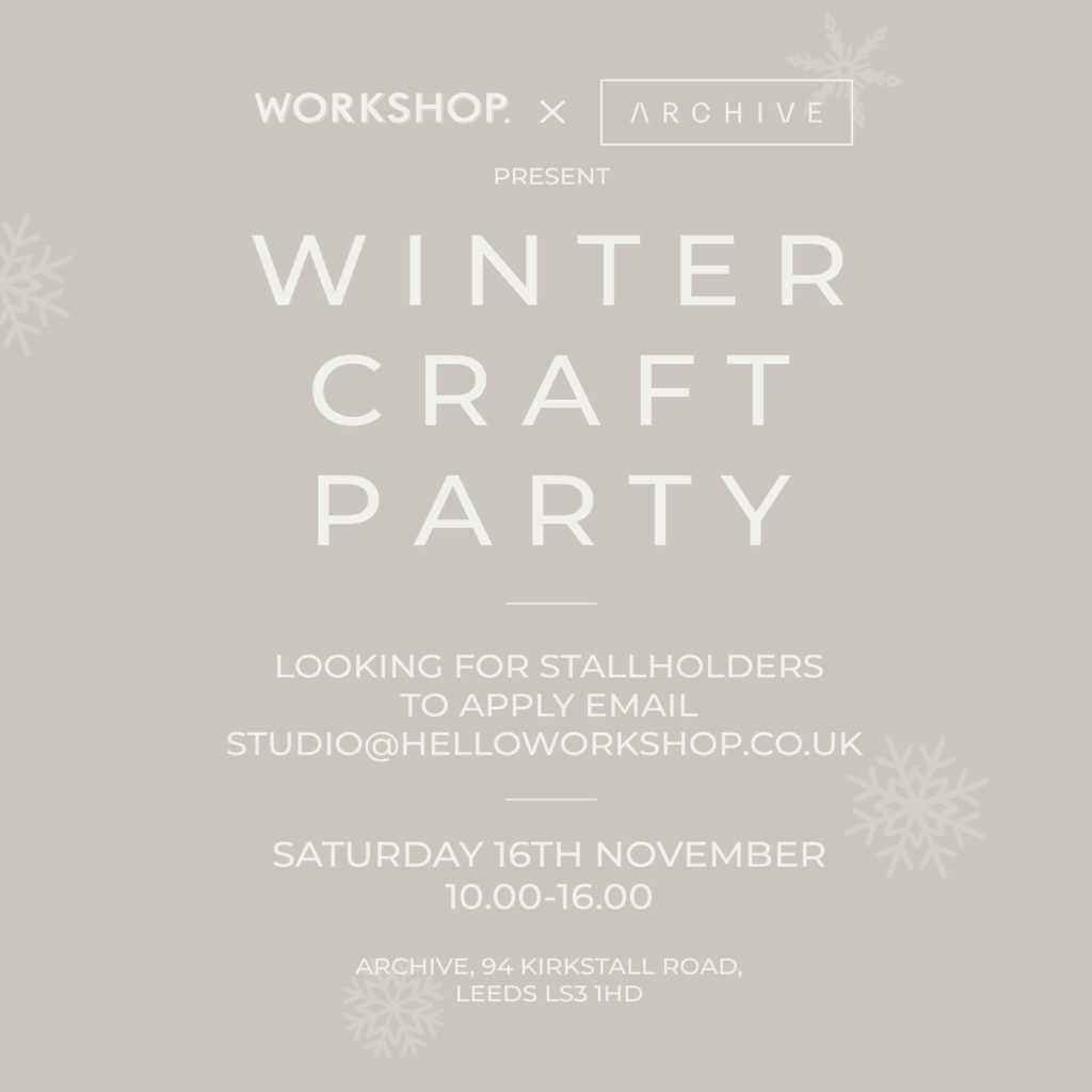 Winter Craft Party Apply To Take Part!